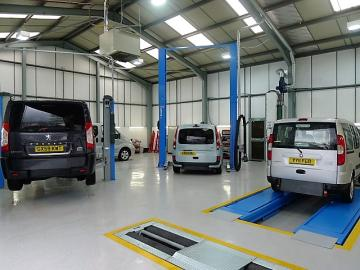 photo showing the Mobility Nationwide workshop, where your vehicle will be prepared to the highest standards.