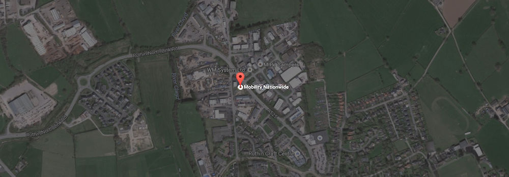 A map showing the location of our premises in Ruthin - click to get directions via Google maps.