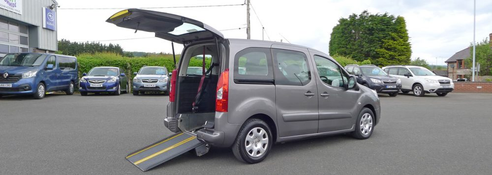 Photo showing wheelchair access into car