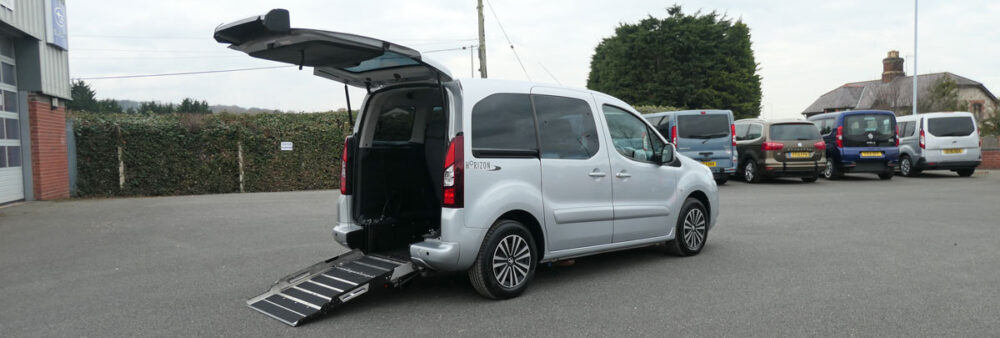 Mobility Nationwide | Used Wheelchair Accessible Vehicles | Peugeot Partner and ramp
