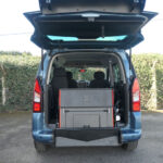 Mobility Nationwide   Used Wheelchair Accessible Vehicles   Peugeot Partner ramp stowed upright