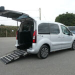 Mobility Nationwide | Used Wheelchair Accessible Vehicles | Peugeot Partner side view of ramp
