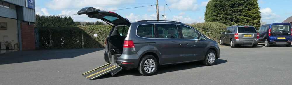 Mobility Nationwide   Used Wheelchair Accessible Vehicles   VW Sharan and ramp
