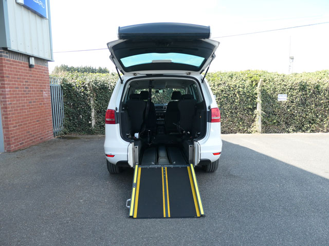 Mobility Nationwide   Used Wheelchair Accessible Vehicles   VW Sharan ramp to BACK