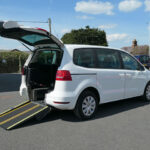 Mobility Nationwide | Used Wheelchair Accessible Vehicles | VW Sharan side view of ramp