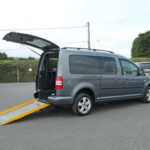 Mobility Nationwide | Used Wheelchair Accessible Vehicles | VW Caddy side view of ramp