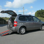 Mobility Nationwide   Used Wheelchair Accessible Vehicles   Sedona side view of ramp