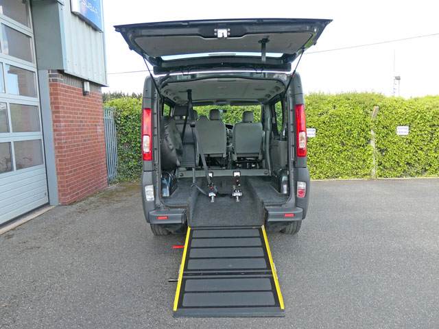 Mobility Nationwide   Used Wheelchair Accessible Vehicles   Vauxhall Vivaro ramp to back