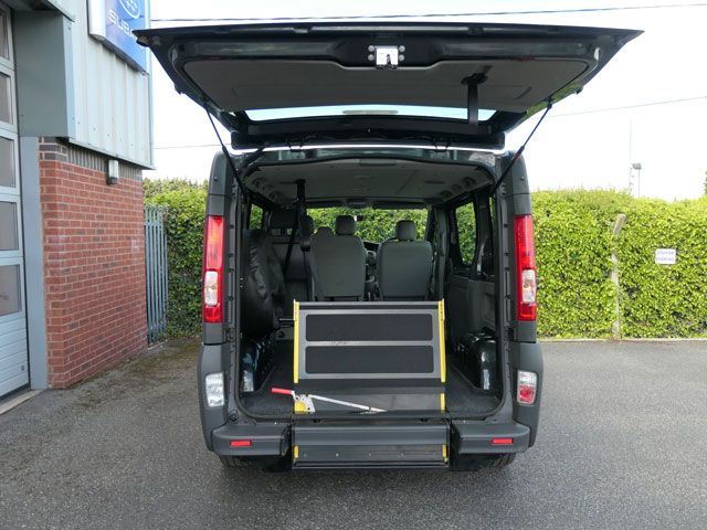 Mobility Nationwide   Used Wheelchair Accessible Vehicles   Vauxhall Vivaro ramp stowed flat
