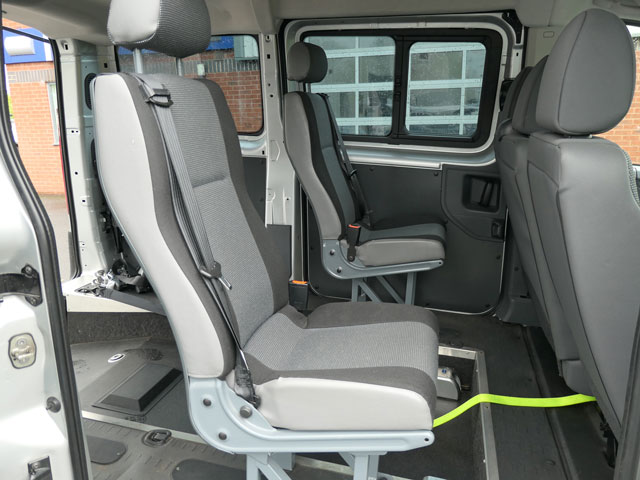 Mobility Nationwide | Used Wheelchair Accessible Vehicles | Peugeot Expert rear seats