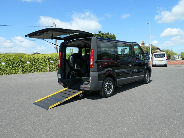 Mobility Nationwide   Used Wheelchair Accessible Vehicles   Vauxhall Vivaro side view ramp