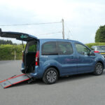 Mobility Nationwide | Used Wheelchair Accessible Vehicles | Side view of ramp Peugeot partner