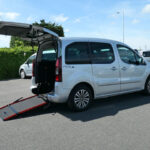 Mobility Nationwide   Used Wheelchair Accessible Vehicles   Peugeot Partner side view of ramp