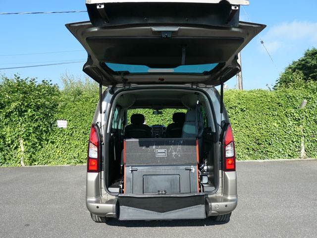 Mobility Nationwide | Used Wheelchair Accessible Vehicles | Peugeot Partner ramp stowed upright