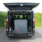 Mobility Nationwide   Used Wheelchair Accessible Vehicles   Vauxhall Vivaro ramp stowed