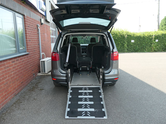 Mobility Nationwide   Used Wheelchair Accessible Vehicles   SEAT Alhambra ramp to back