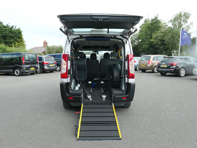 Mobility Nationwide   Used Wheelchair Accessible Vehicles   Peugeot Expert ramp to back