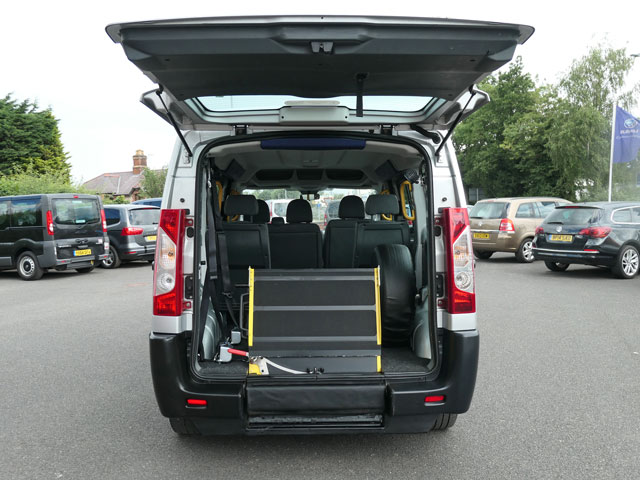 Mobility Nationwide   Used Wheelchair Accessible Vehicles   Peugeot Expert ramp stowed