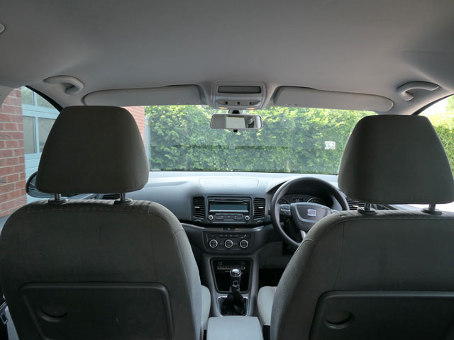 Mobility Nationwide   Used Wheelchair Accessible Vehicles   SEAT Alhambra view from wheelchair location