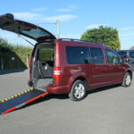 Mobility Nationwide   Used Wheelchair Accessible Vehicles   VW Caddy Maxi side view ramp