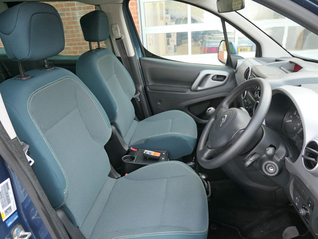 Mobility Nationwide   Used Wheelchair Accessible Vehicles   Citroen Berlingo front seats