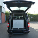 Mobility Nationwide   Used Wheelchair Accessible Vehicles   VW Caddy Maxi ramp stowed