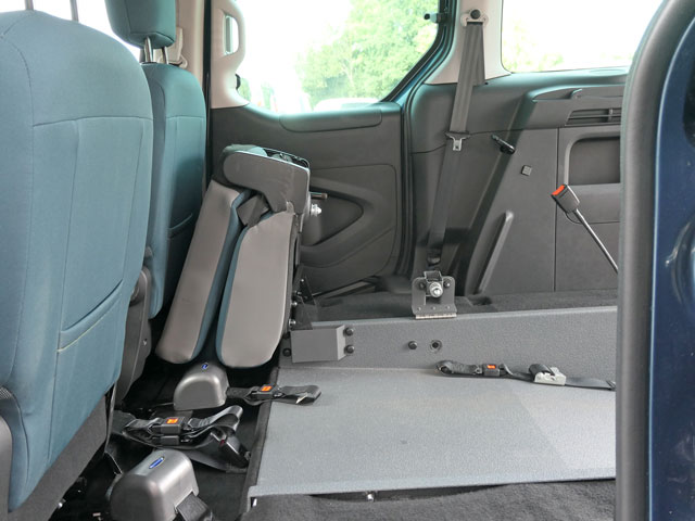 Mobility Nationwide | Used Wheelchair Accessible Vehicles | Citroen Berlingo rear seat tilted
