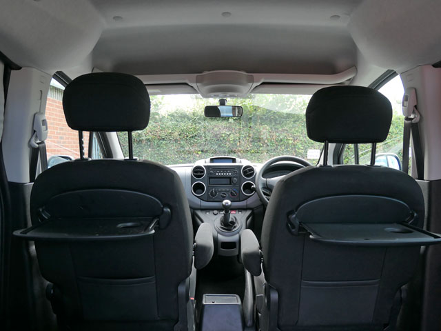 Mobility Nationwide   Used Wheelchair Accessible Vehicles   Peugeot Partner trays and shelf