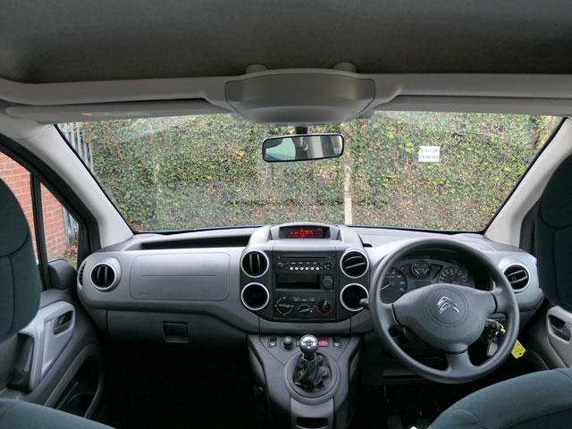 Mobility Nationwide   Used Wheelchair Accessible Vehicles   Citroen Berlingo view from wheelchair